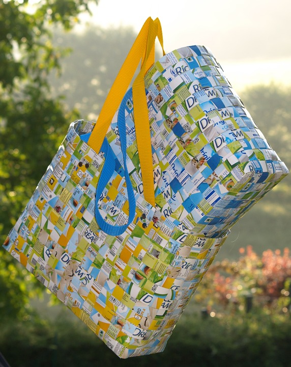 Shopping Bag, Bags, Woven, Recycle, Wattle, Structure