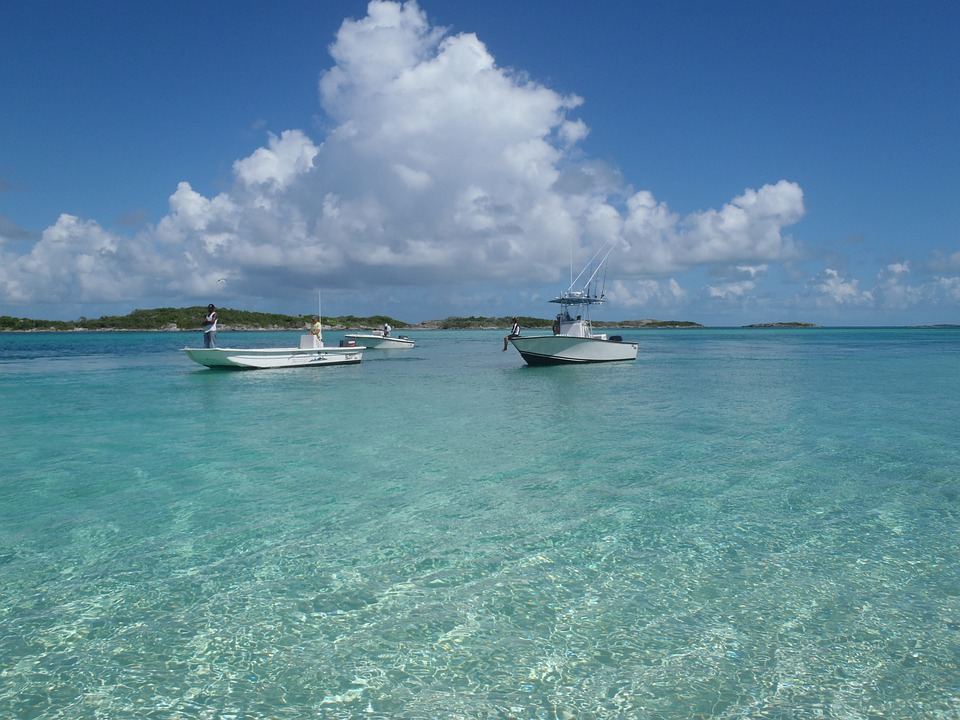Sea, Caribbean, Water, Boats, Island, Bahamas, Travel