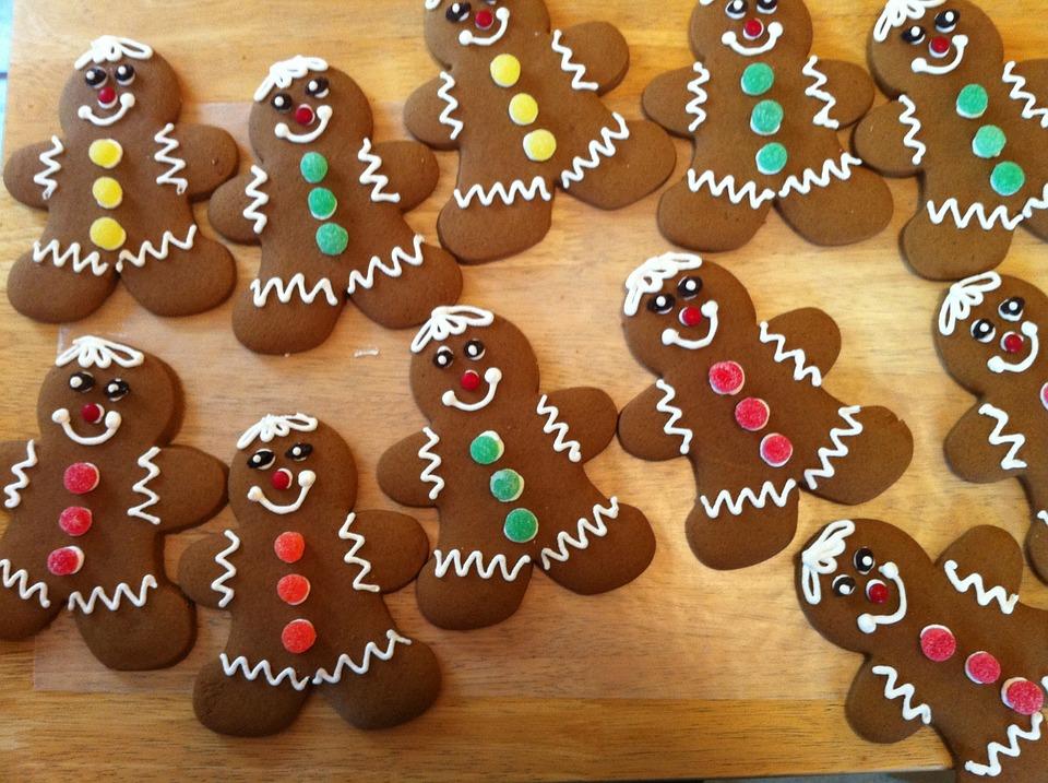 Gingerbread, Gingerbread Men, Cookies, Christmas, Bake