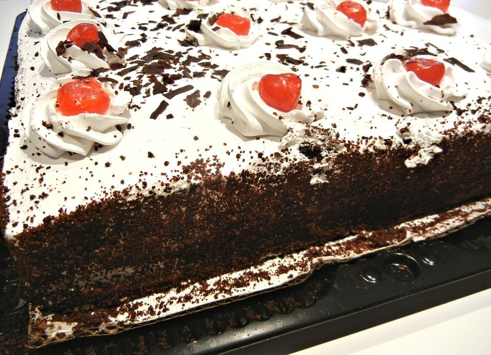 Black Forest Cake, Cherries, Chocolate, Baked