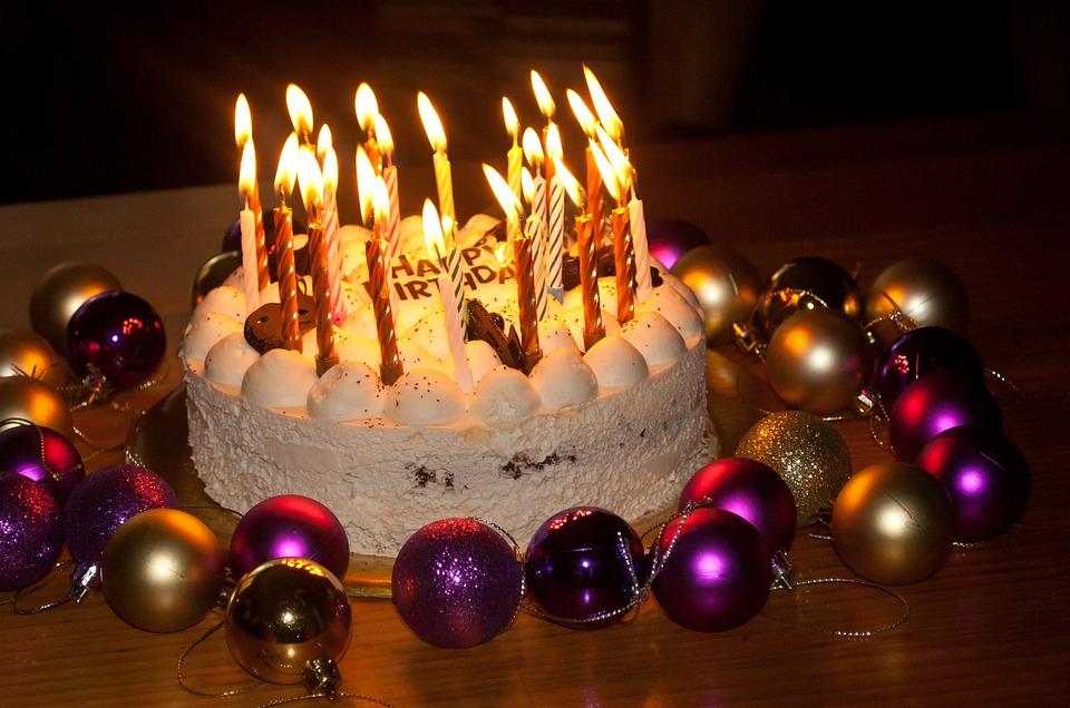 Birthday Cake, Candles, Cake, Birthday, Baked Goods