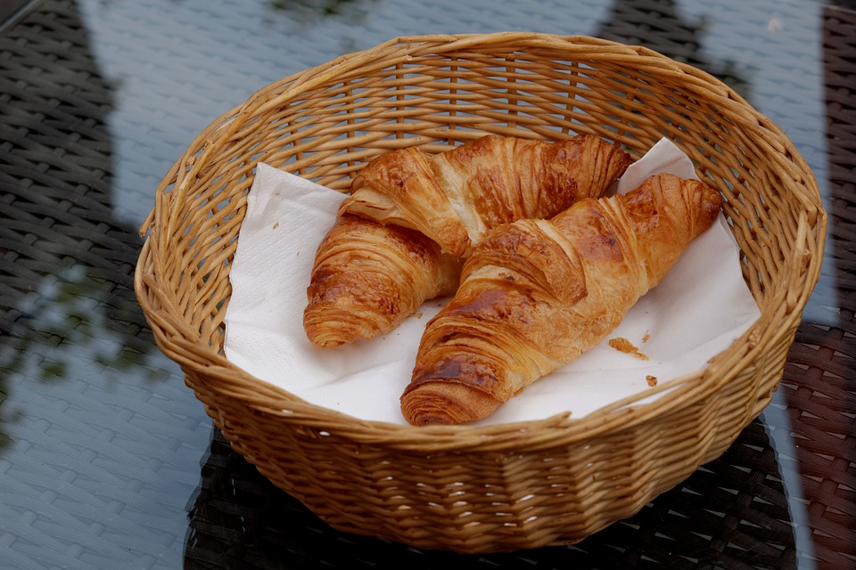 Croissant, Breakfast, Eat, Food, Baked Goods