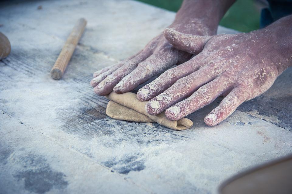 Bread, Kneading, Handmade, Baker, Flour, Bake, Bakery