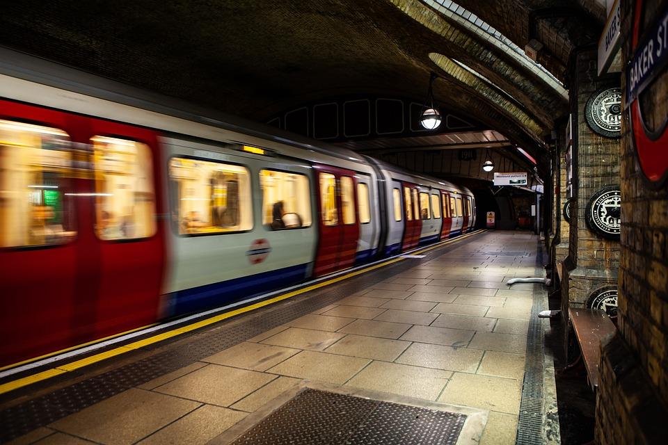 Baker Street Tube, Tube Station, London Tube, Train