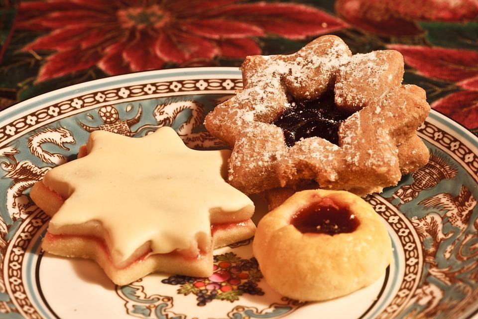Cookies, Plate, Baked, Wedgewood, Delicious, Bakery