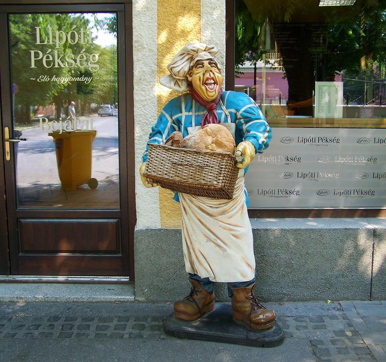 Baker Figure, Bakery, Pastry Shop