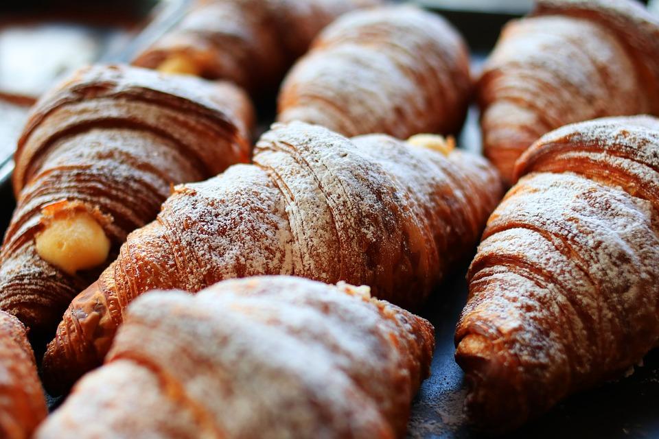 Bread, Croissants, Food, Bakery, Roast, Eating, Morning