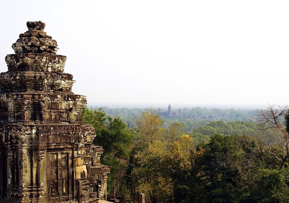 Cambodia, Angkor, Temple, Bakheng, Siem Reap, Landscape
