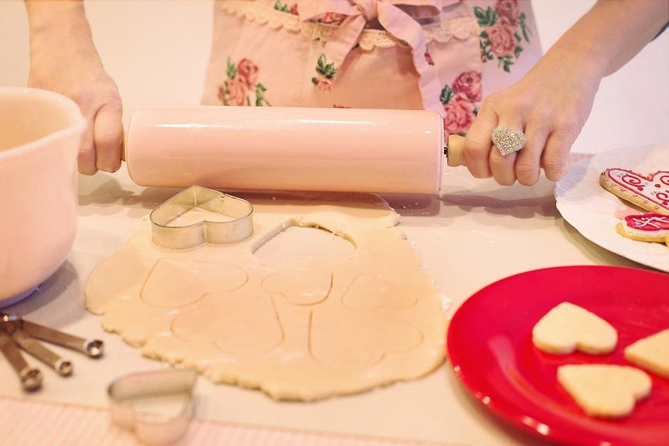 Valentine's Day, Baking, Baking Cookies