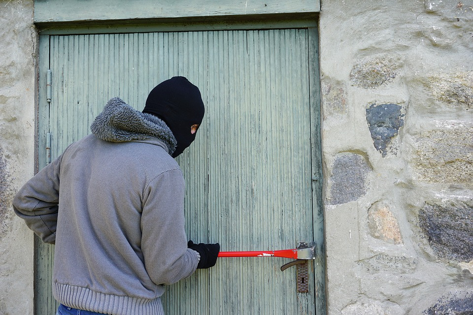 Thief, Burglary, Break Into, Balaclava, Crowbar