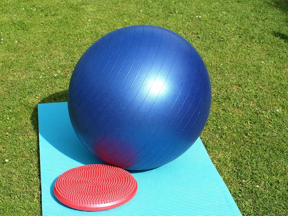 Exercise Ball, Balance Cushion, Gymnastics, Ball, Sport