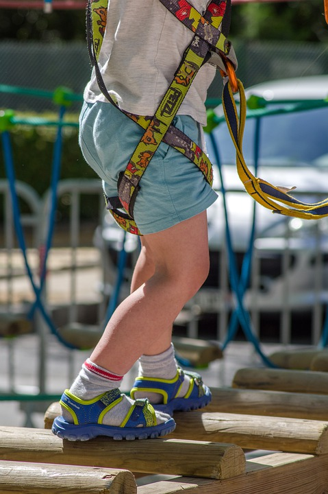 Children's Games, Harness, Climbing, Balance, Climber