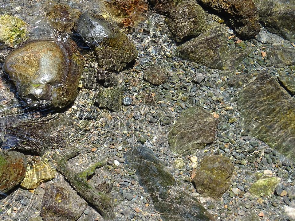 Water, River, Nature, Balance, Stones, Rocks, Summer