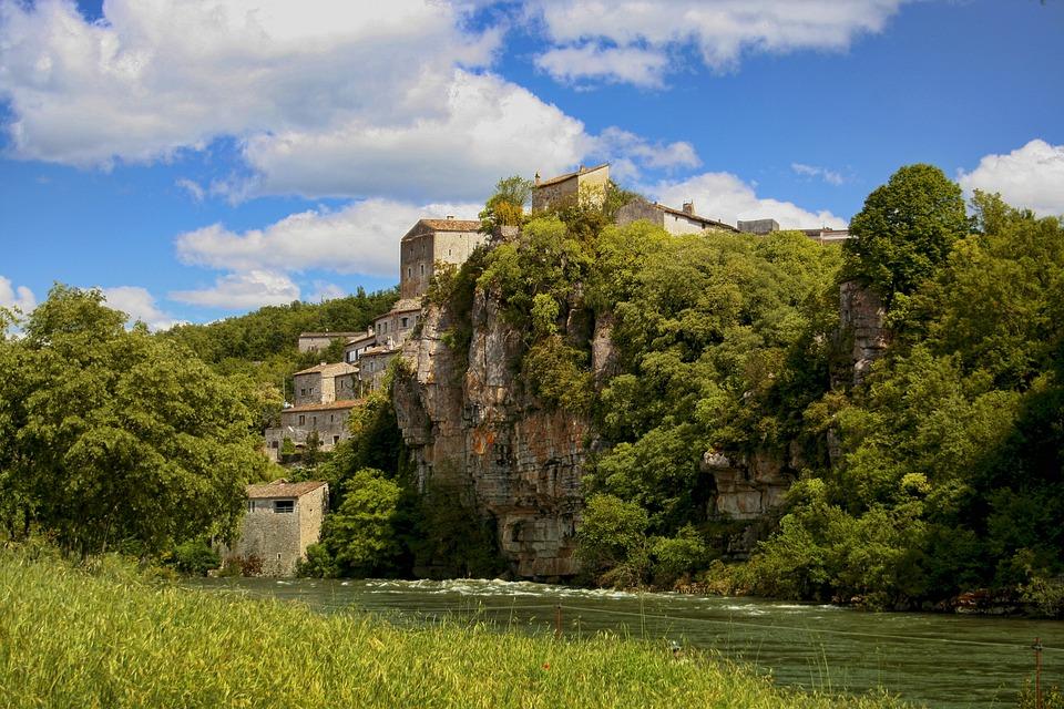 Balazuc, Ardèche, Nature, Village, Landscape, France