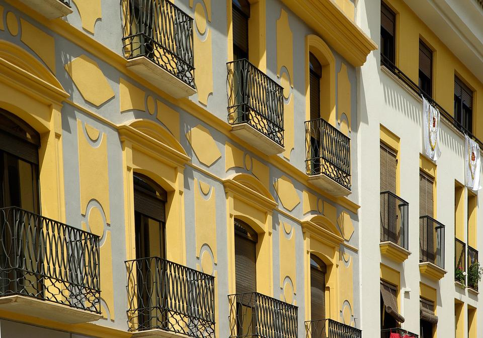 Andalusia, Lorca, Balconies, Facades Painted
