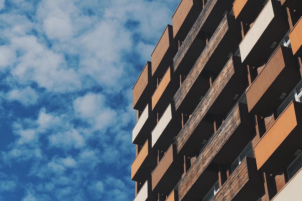 Building, Facade, Balconies, Apartment, House, Flats