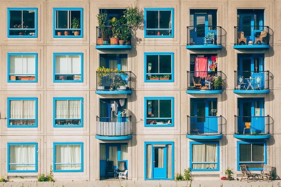 Apartments, Architecture, Balconies, Building, Facade