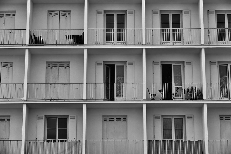 Architecture, Facade, Building, Balcony, Symmetrically