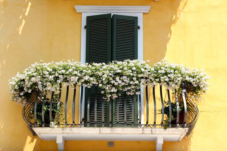 Balcony, Flowers, Flower Boxes, Balcony Plant