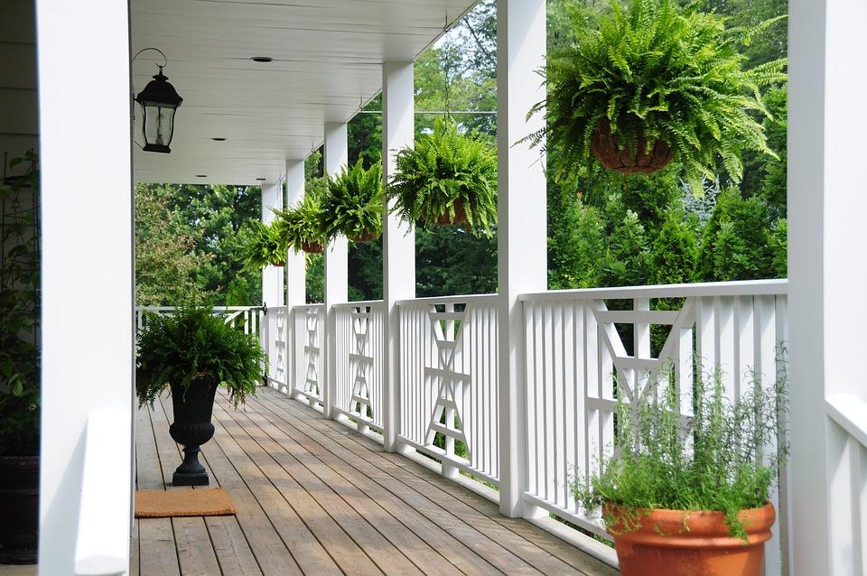 Railing, Porch, Flowers, Veranda, Balcony, Patio