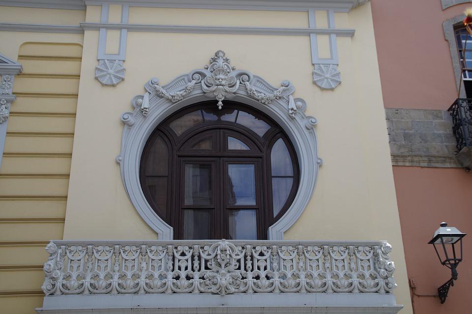 Window, Balcony, Baroque, Verschnörkelt, Facade