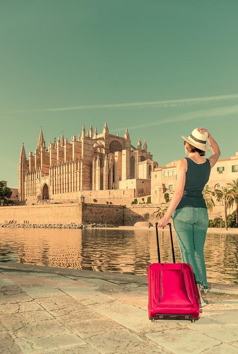 Tourism, Mallorca, Balearic Islands, Cathedral, Women