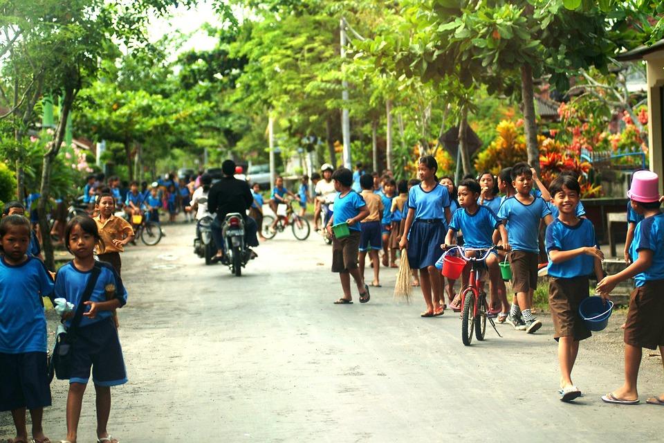 Bali, Kids, School, Village, Island, Community