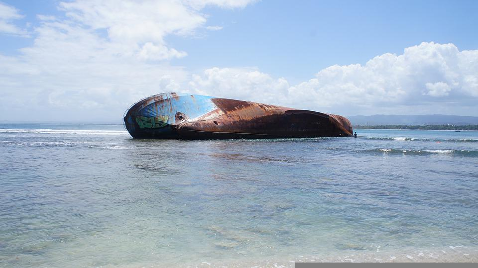 Klayar Beach, Shipwreck, Bali, Indonesia, Sea, Ocean
