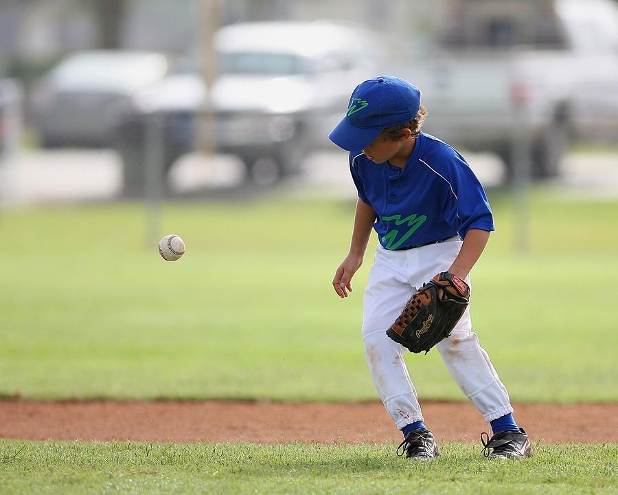 Baseball, Little League, Player, Bounce, Ball, Boy