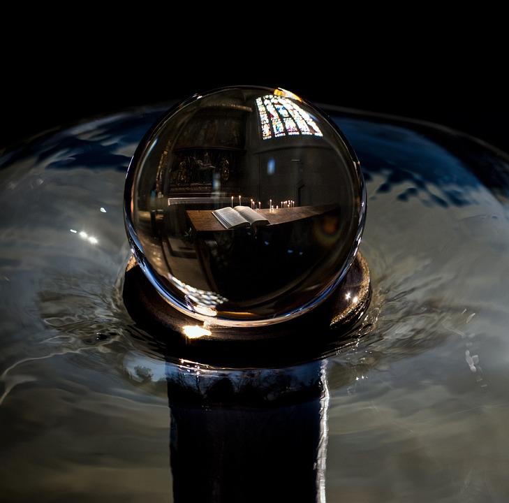 Ball, Composing, Mood, Water, Fountain, Hymnal, Church