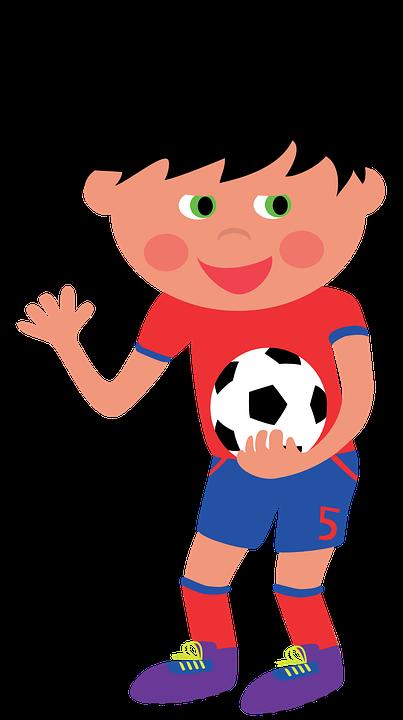 Football, Footballer, Ball, Child, Boy, Clip Art