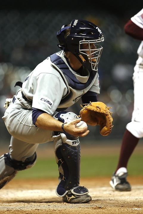Baseball, Player, Catcher, Sport, Ball, Game, Uniform