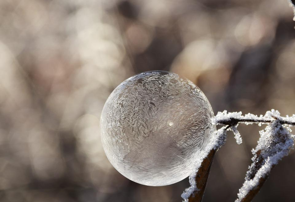Bubble, Soap Bubble, Ball, Frost, Winter, Mood