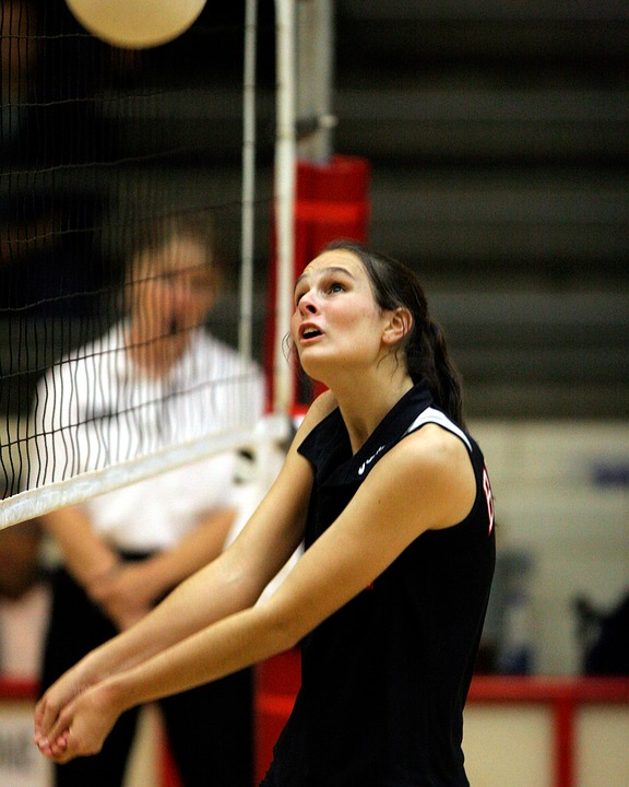Volleyball, Player, Volley, Girl, Athlete, Ball