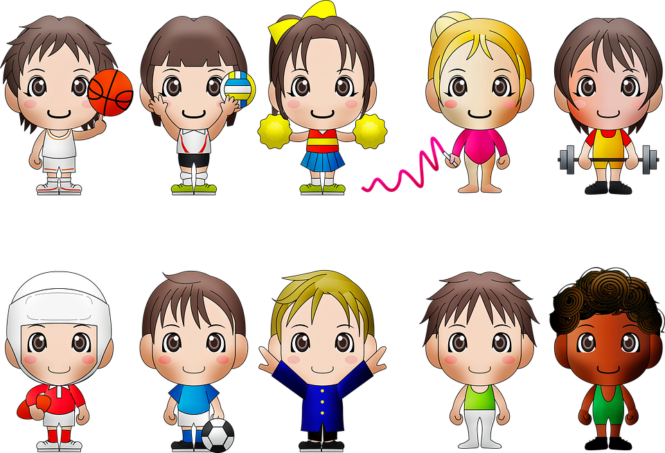 Chibi Kids, Sports, Chibi, Boy, Ball, Character, Young