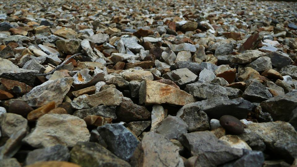 Road, Gravel, Grit, Ballast, Metal, Stones