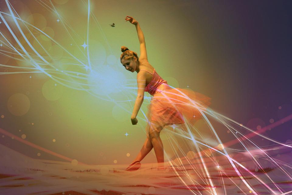 Ballerina, Pink, Magic, Dance, Background