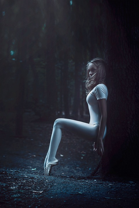 Ballerina In The Forest, Girl, Forest, Posing, Stroll