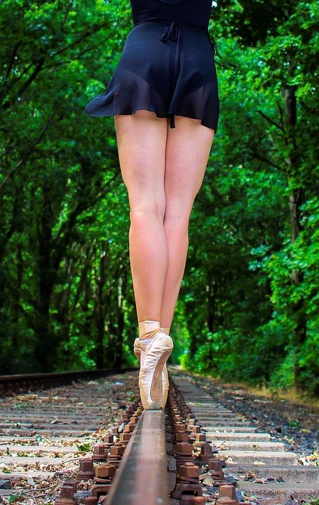Woman, Ballet, Shoes, Ballet Shoes, Dance, Dancer, Body