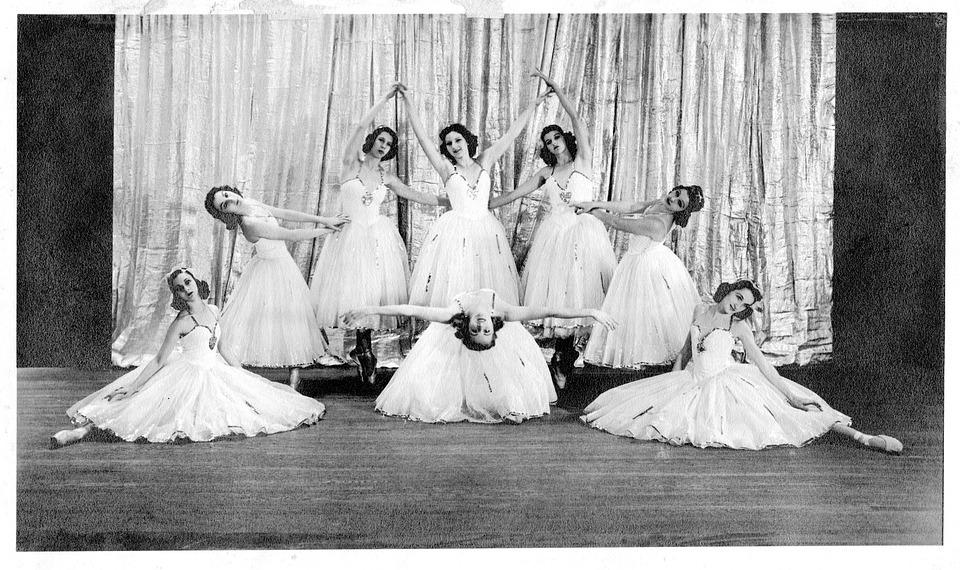 Vintage, Ballet, Studio, Ballerinas, Costume, Retro