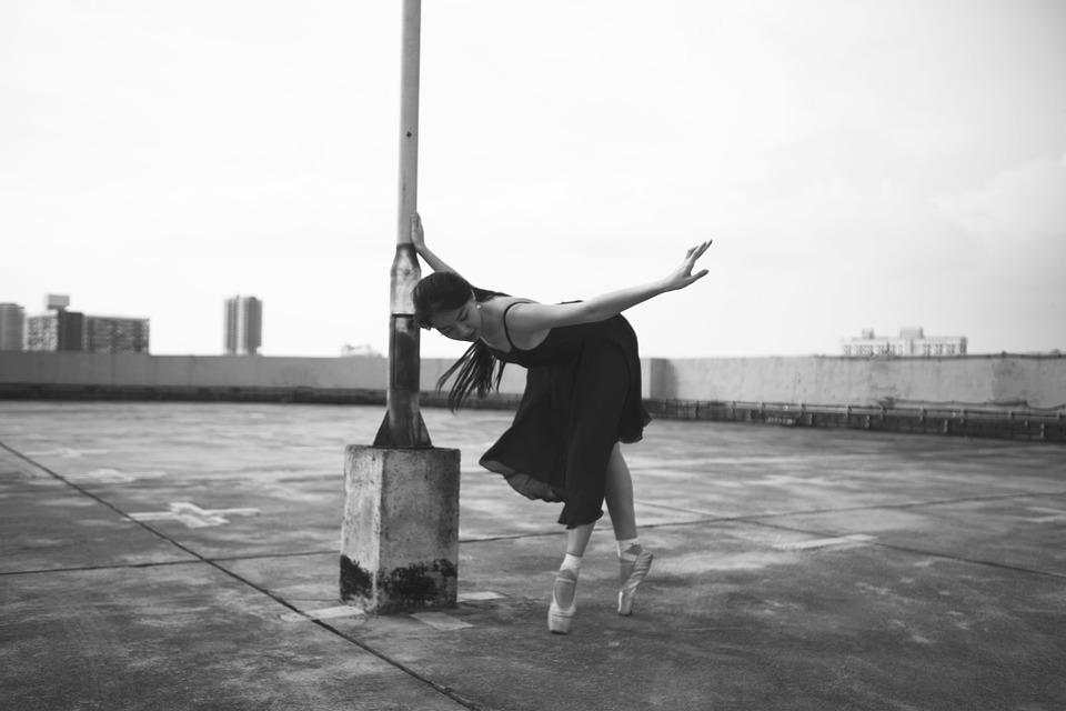Ballet, Dance, Street, Portrait, Ladies, Women, Rooftop