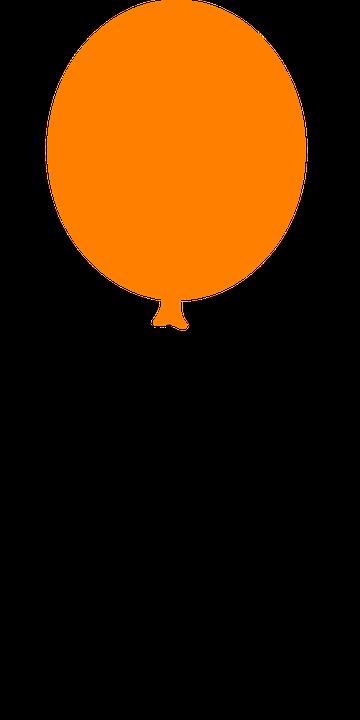 Balloon, Floating, Orange, Party, Celebrate