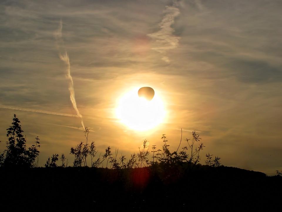 Balloon, Hot Air Balloon, Sun Sunset, Golden, Light