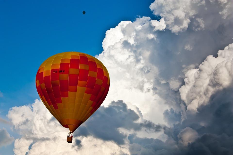 Hot Air, Balloon, Hot Air Balloon, Float, Rise, Glow