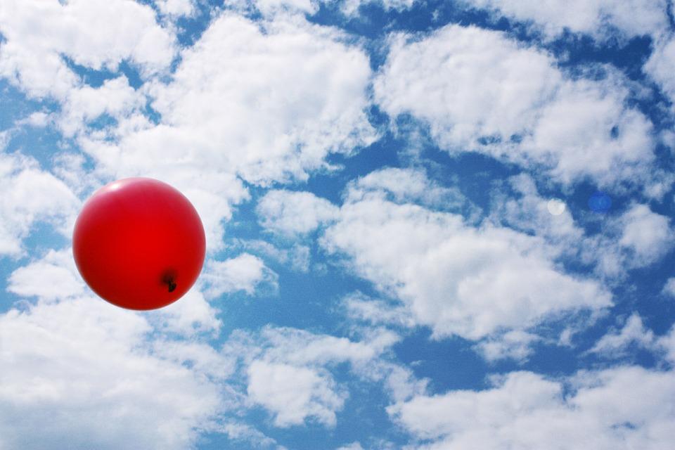 Balloon, Red, Sky, Flap Away