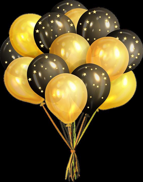 Balloons, Confetti, Celebration, Birthday, Fun