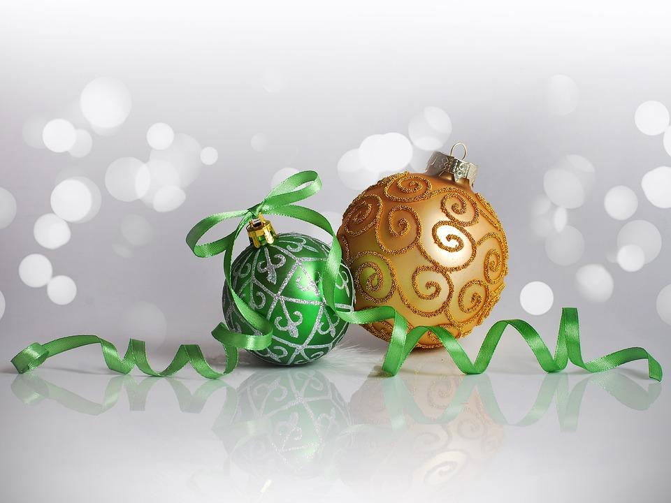 Christmas Decorations, New Year, Christmas, Balloons