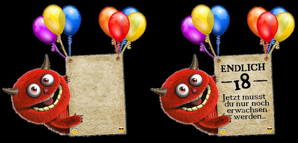 Birthday Card, Balloons, Color, Birthday, Ballons