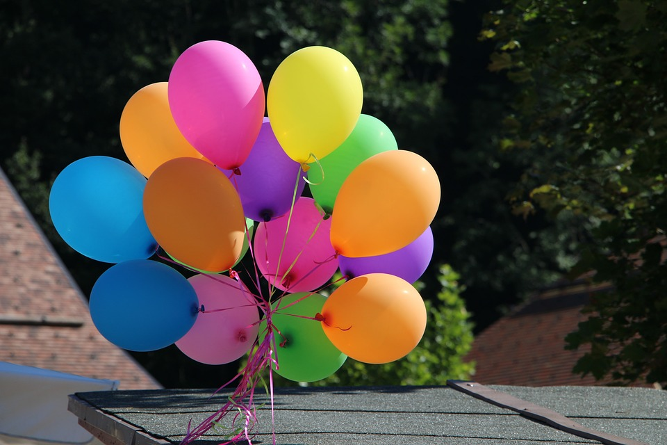 Balloons, Color, Celebration