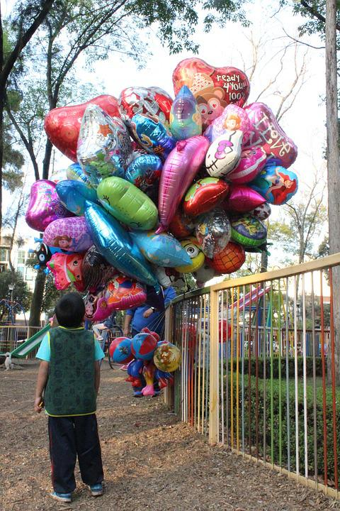 Childhood, Child, Balloons, Fun